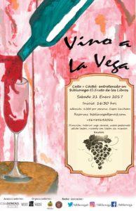 Afiche Vino a La Vega II (BiblioVega)